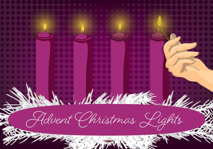 Free Christmas Candle Vector Background