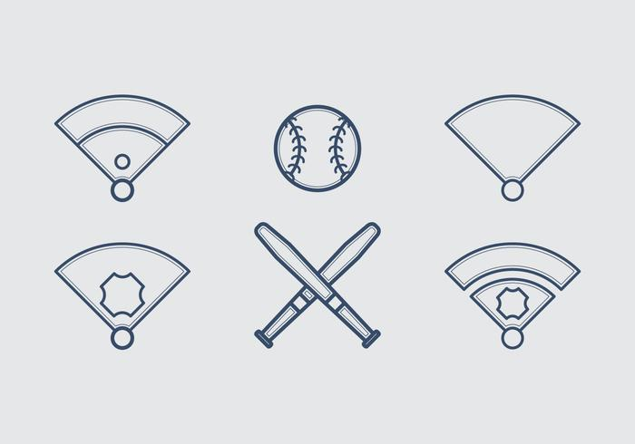Free Baseball Vector Icon Illustrations #4