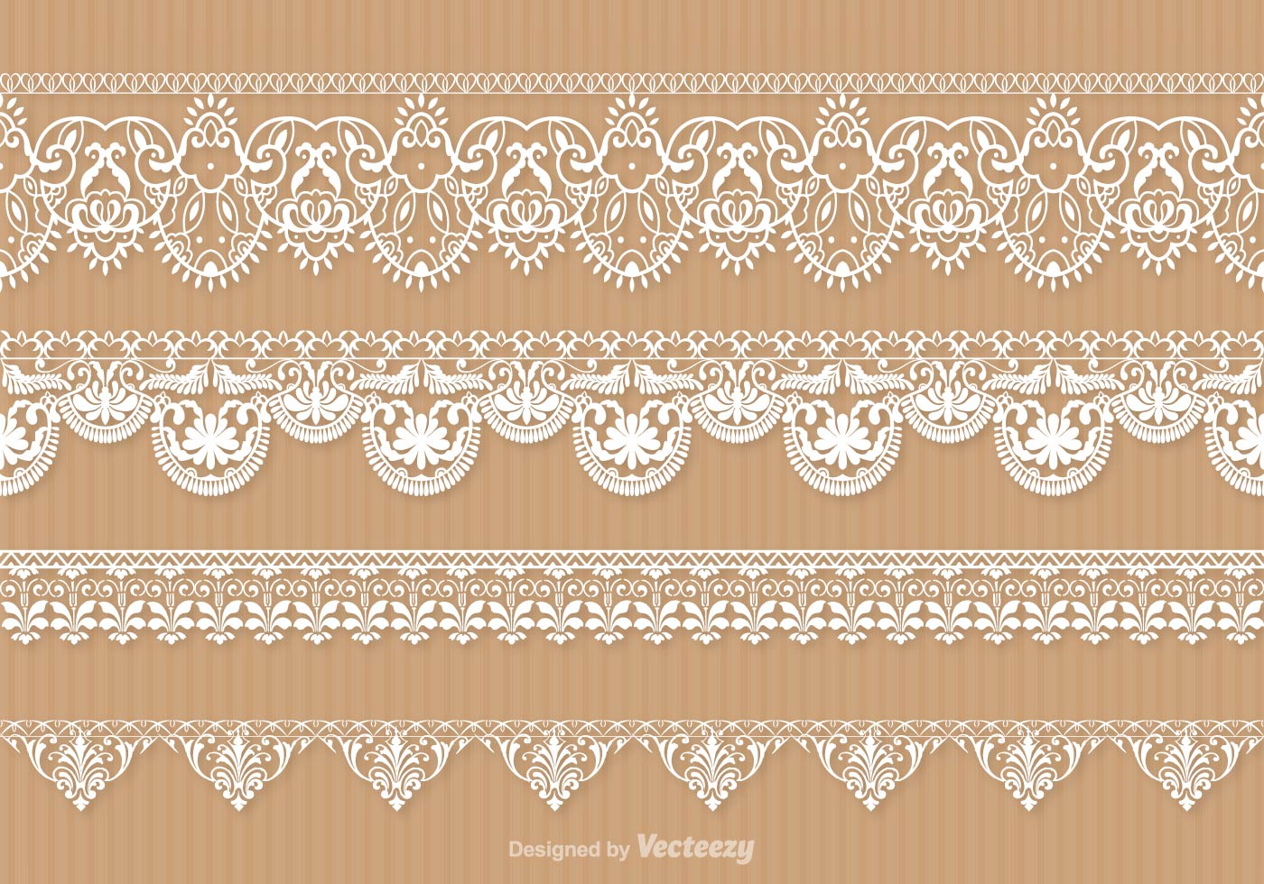 Lace Trim Vector Set Download Free Vector Art Stock