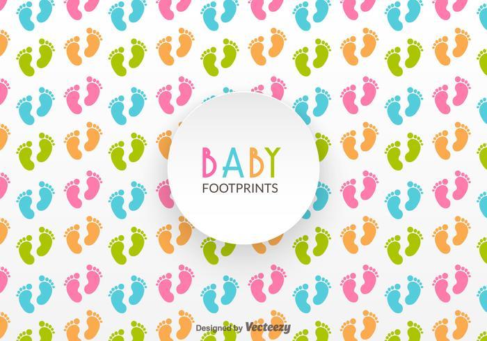 Patron vectoriel libre des empreintes de bébé