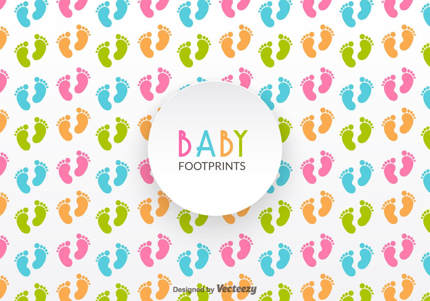Baby Footprints Vector Pattern Download Free Vector Art