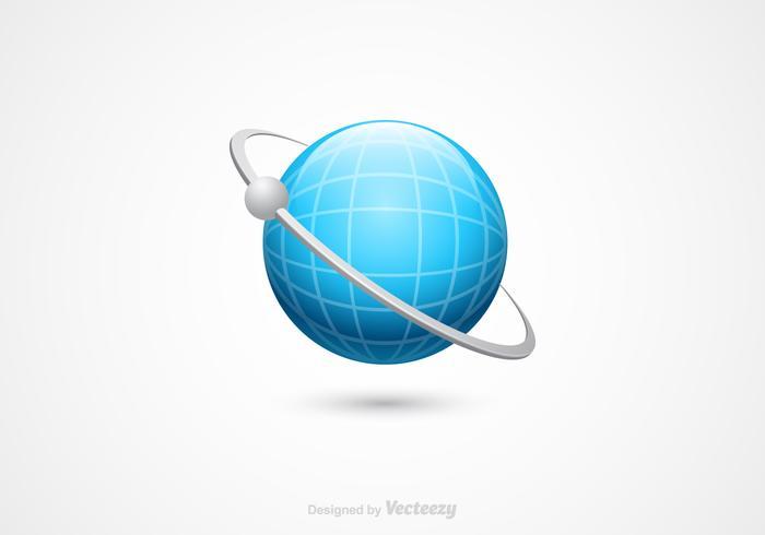 Gratis 3D Globe Vector Icon
