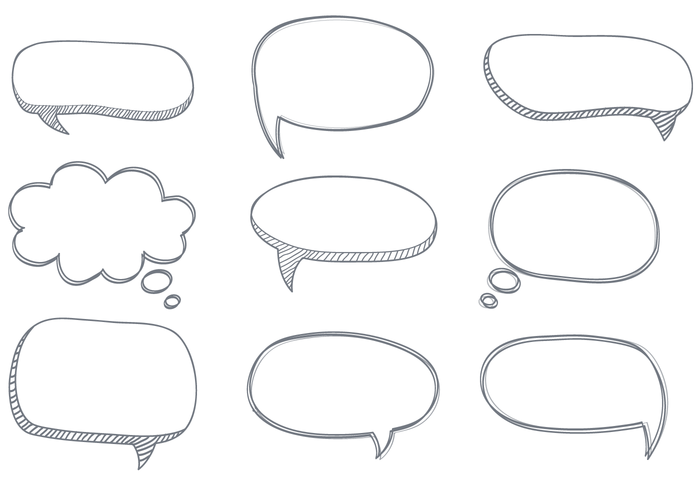 Free Sketchy Dialogue Bubbles Vector