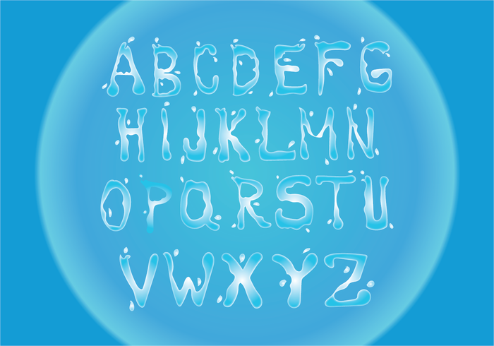 Free Water Font Vector Download Free Vector Art Stock