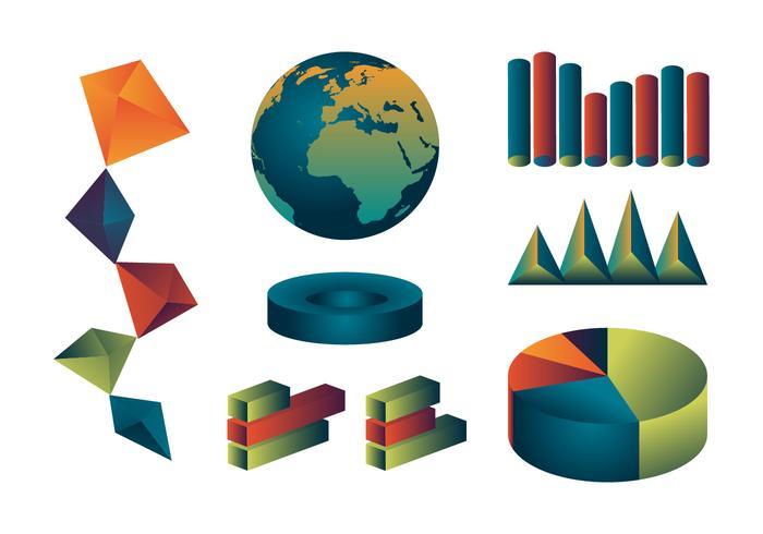 Vector d'ensemble d'icônes de rapport annuel