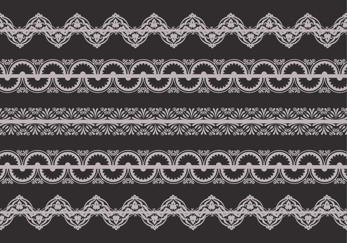 Retro Lace Trim Vector