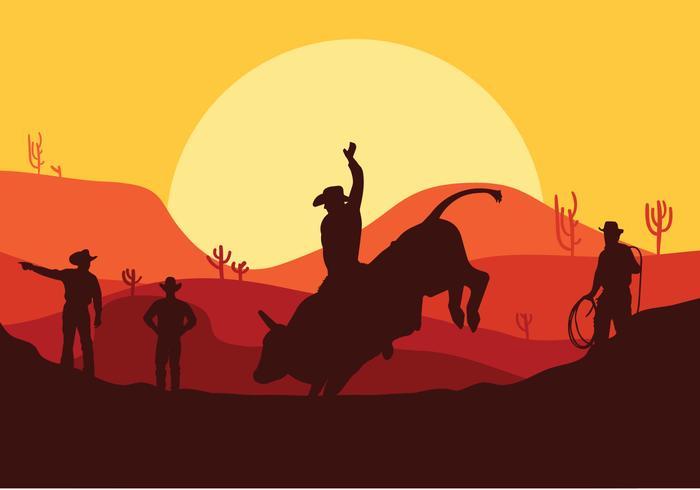 Vector de Bull Rider