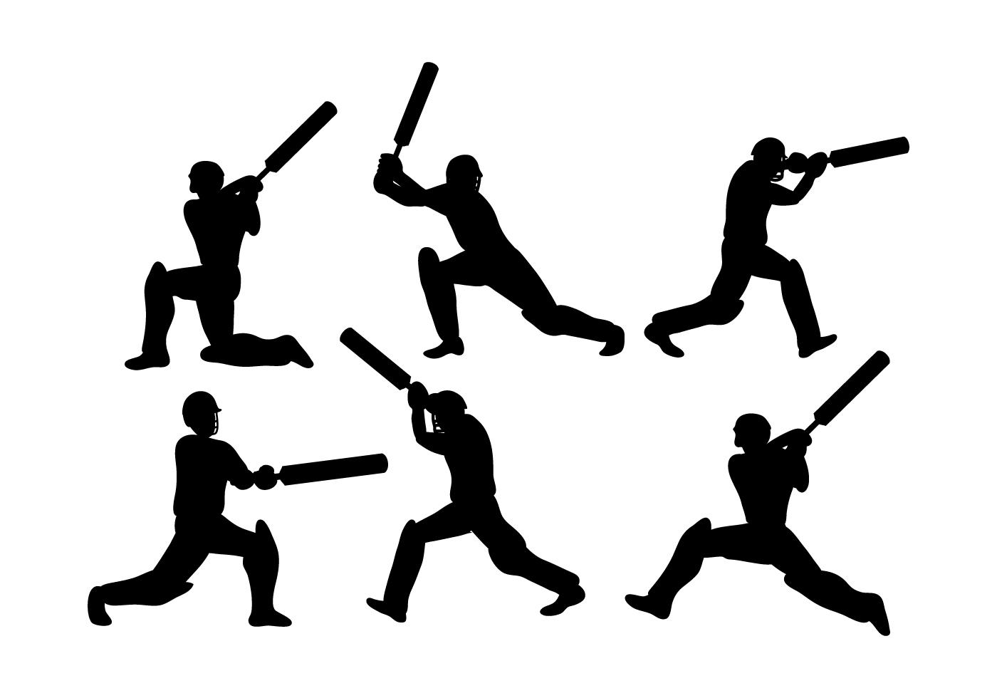 cricket player vector download free vector art stock
