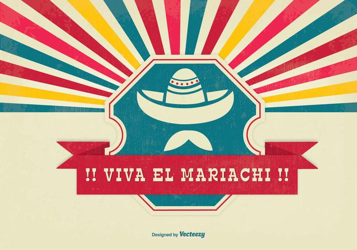 Viva el Mariachi Background Illustration