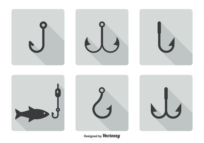Fish Hook Icon Set
