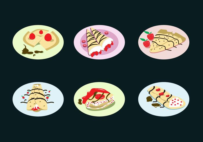 Yummy Crepes Vector