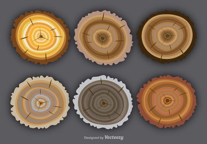 Flat colorful tree rings