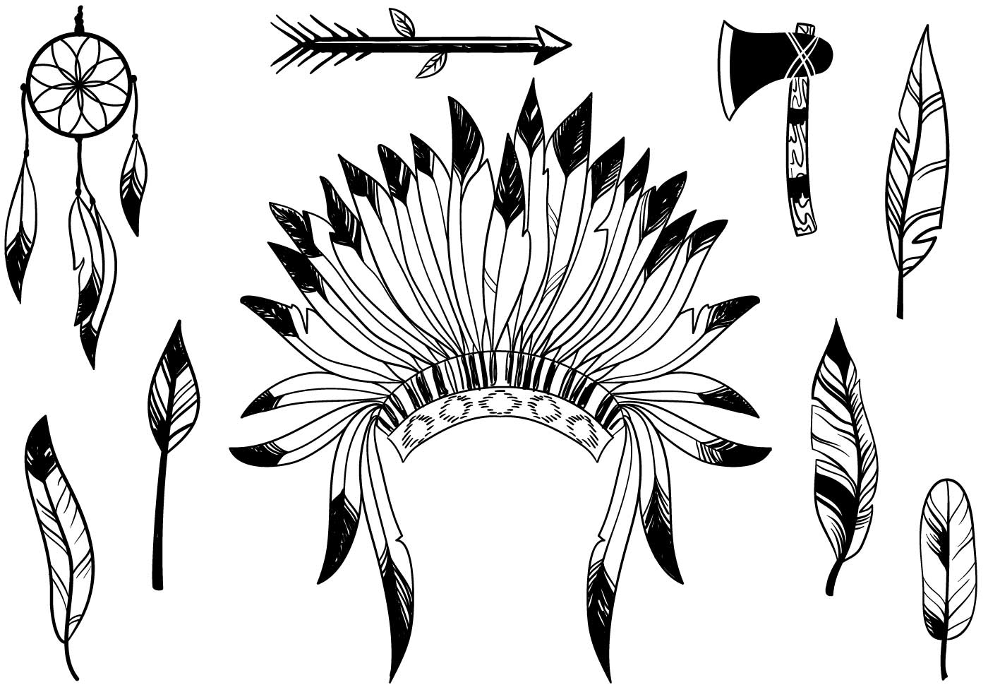 indian feathers template - HD 1400×980