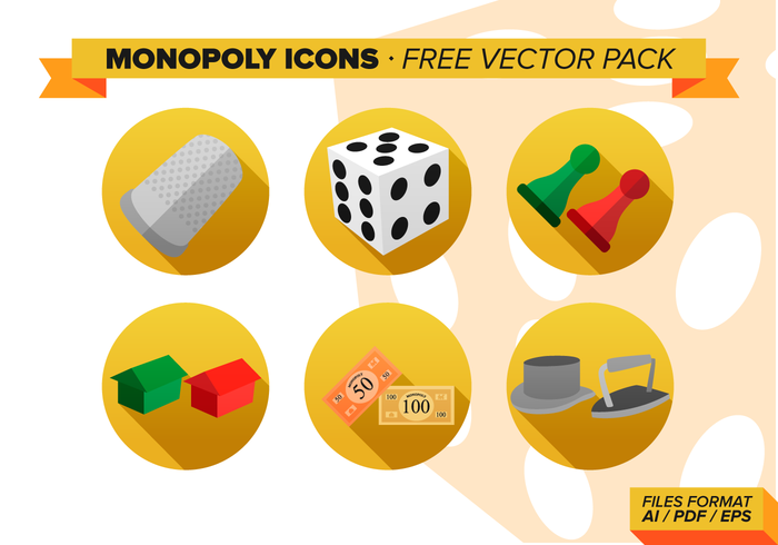 monopoly icons free vector pack download free vector art stock
