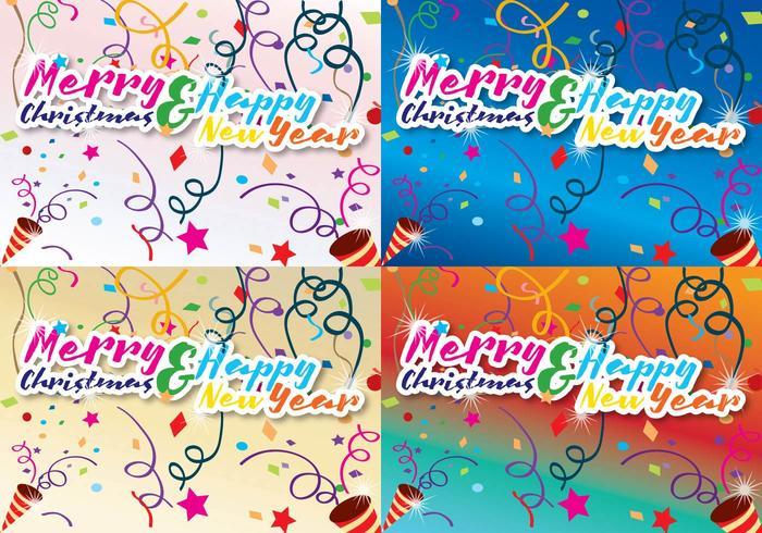 Feliz Natal e Ano Novo vetor