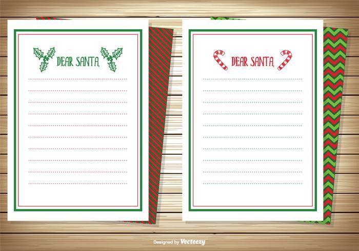 Caro Conjunto de cartões de nota de Santa