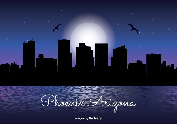 Phoenix Arizona Night Skyline