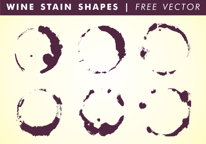 Wine Stain Shapes Free Vector