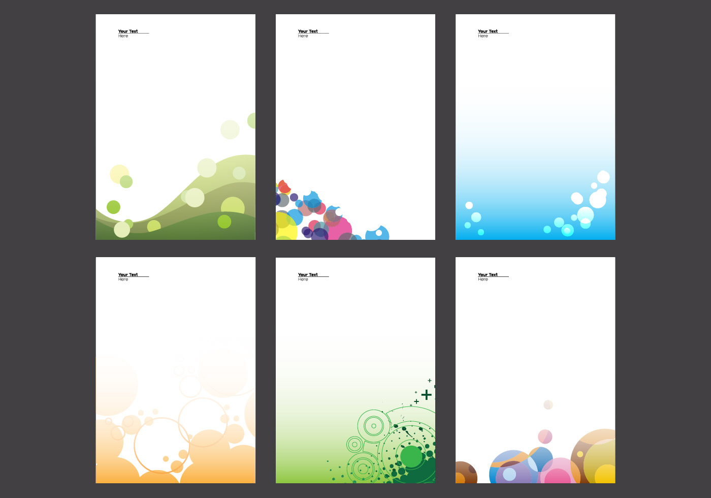 letterhead with circle design vector
