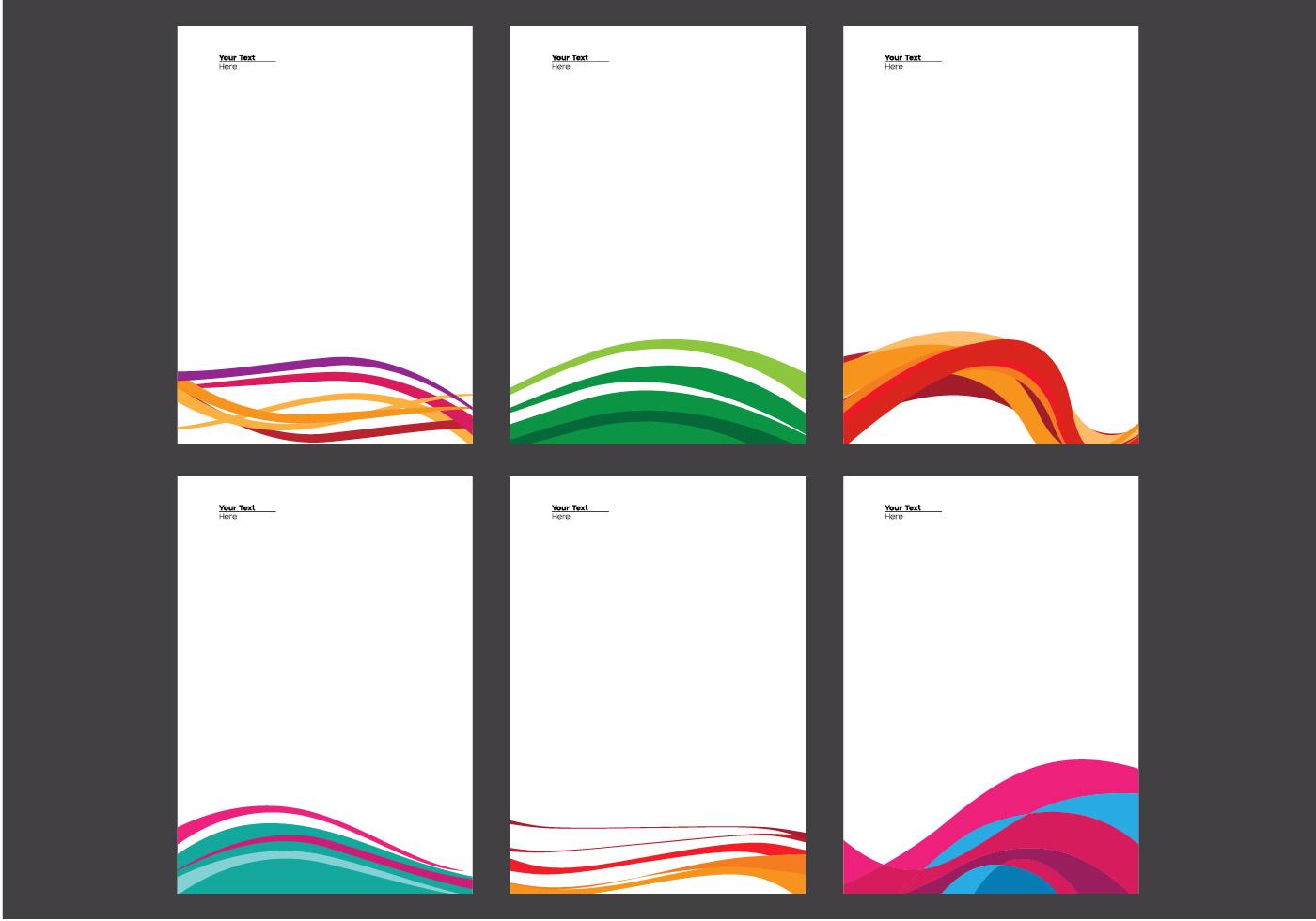 Line Art Design Free Download : Letterhead with line design vector download free