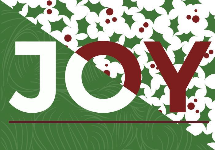 Vector libre de la alegría de la Navidad