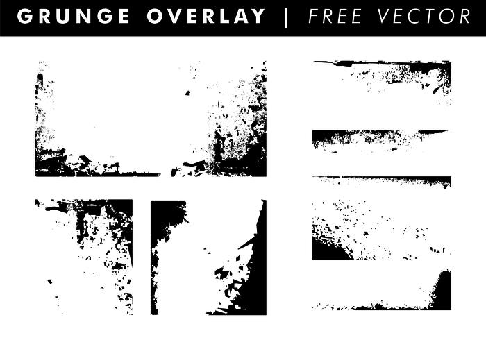 Grunge Overlays & Textures Free Vector