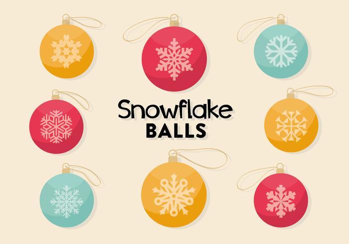 Vector libre de bolas decorativas de Navidad