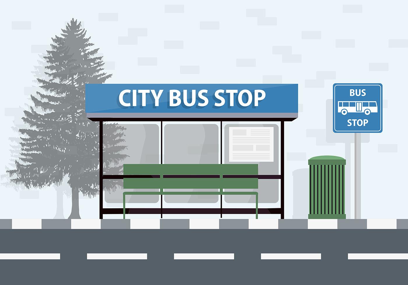Bus Stop Free Vector Art - (1330 Free Downloads)