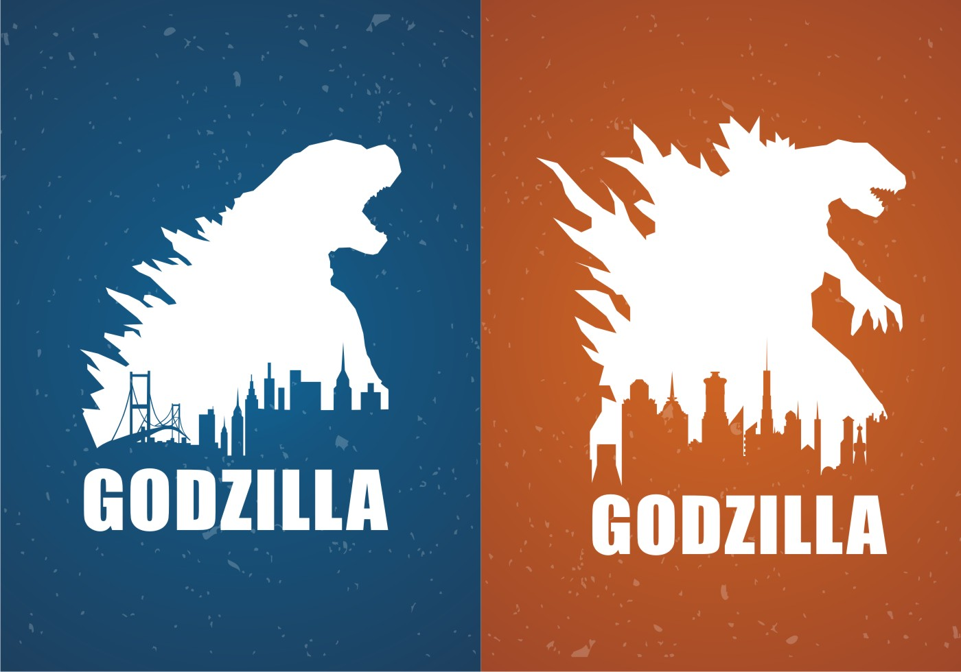 godzilla movie poster backgrounds free vector   download