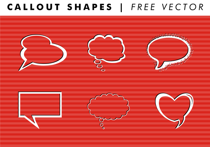 Callout Shapes PT. 1 Free Vector