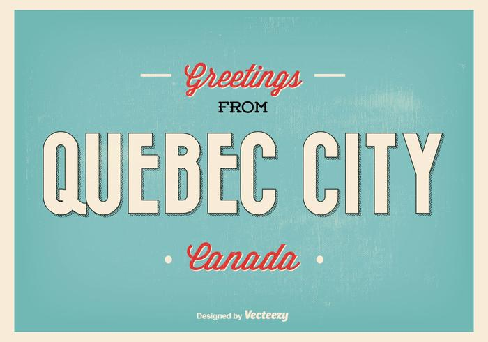 Retro Quebec City Greeting Illustratie