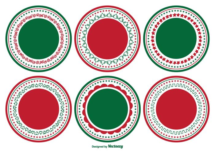 christmas labels free vector art 14933 free downloads