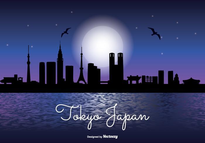 Tokyo Japan Nacht Skyline