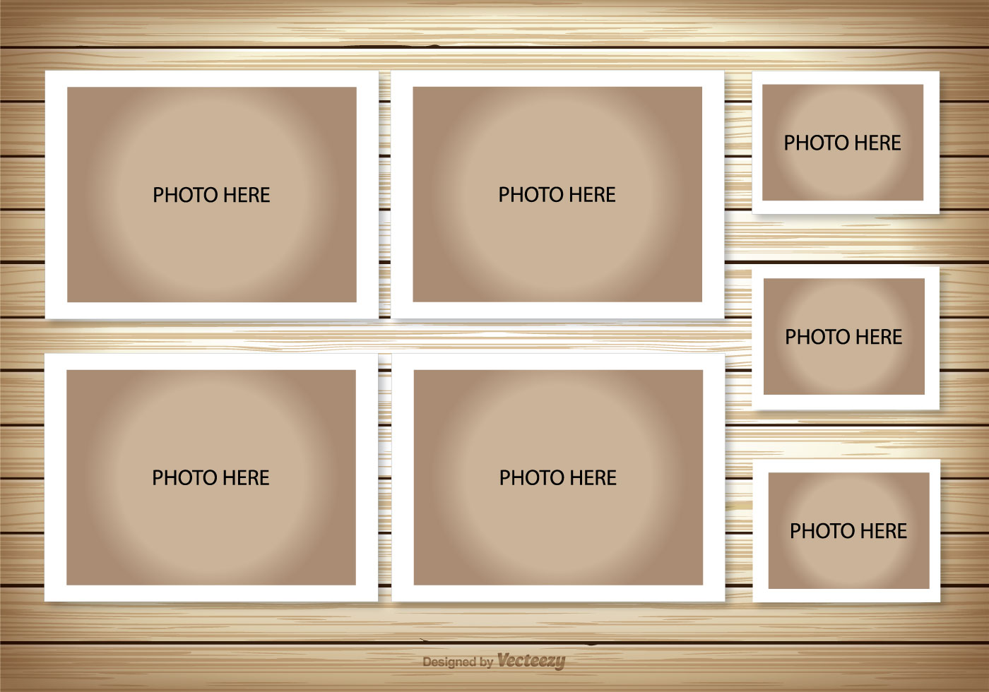 4 picture collage template - photo collage template download free vector art stock