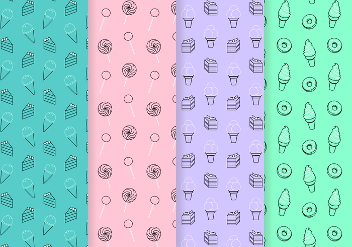 Free Sweets Pattern Vector