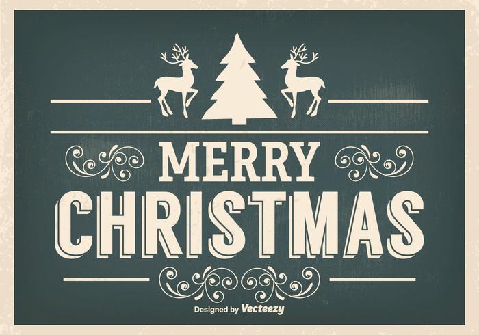 Ejemplo de la Navidad del vintage