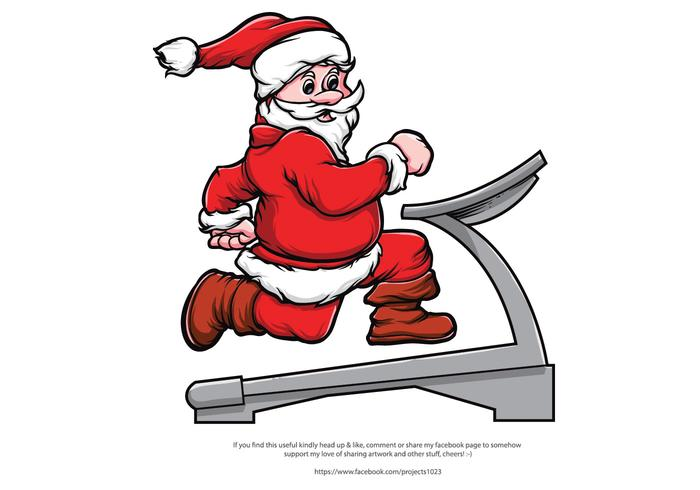 Merry Fitness Santa Vector