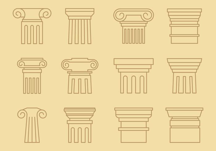 Style de ligne des piliers
