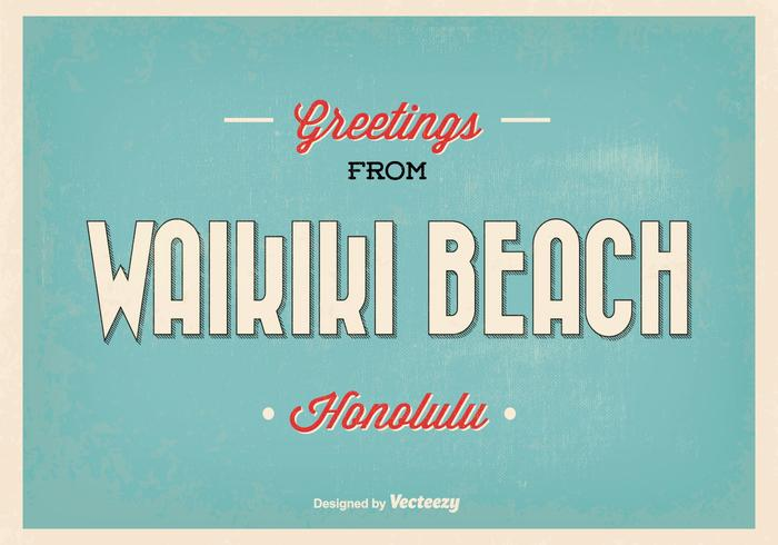 Waikiki Greeting Illustration
