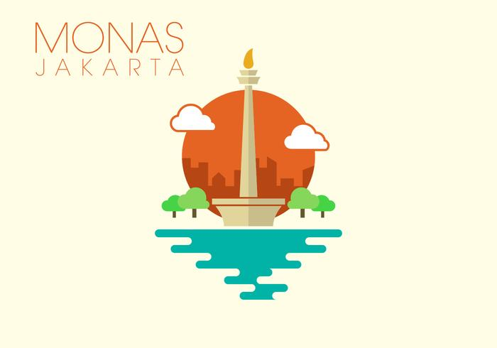 Monas Minimalist Illustration