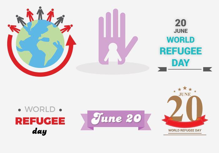 Vetor livre do dia dos refugiados
