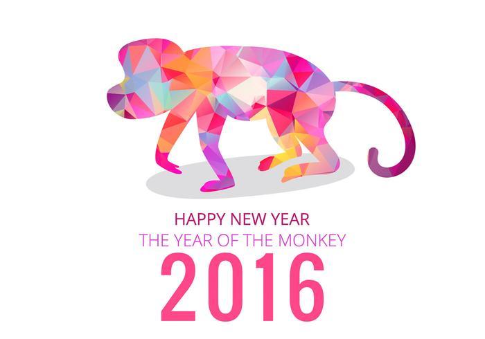 2016 año de mono vector