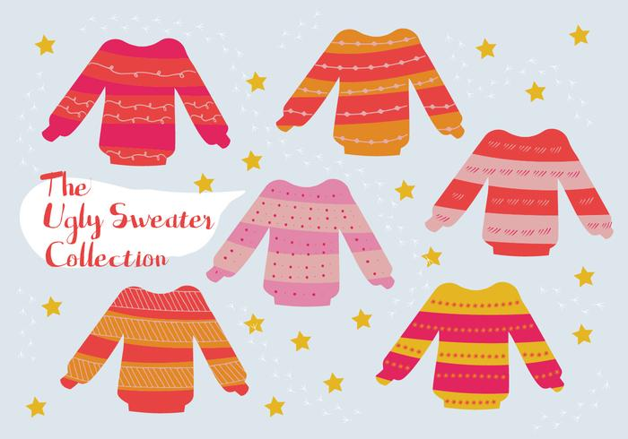 Free Set of Ugly Sweater Vector Background