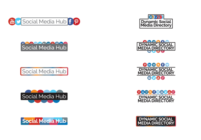 Social Hub / Directorio de iconos vectoriales