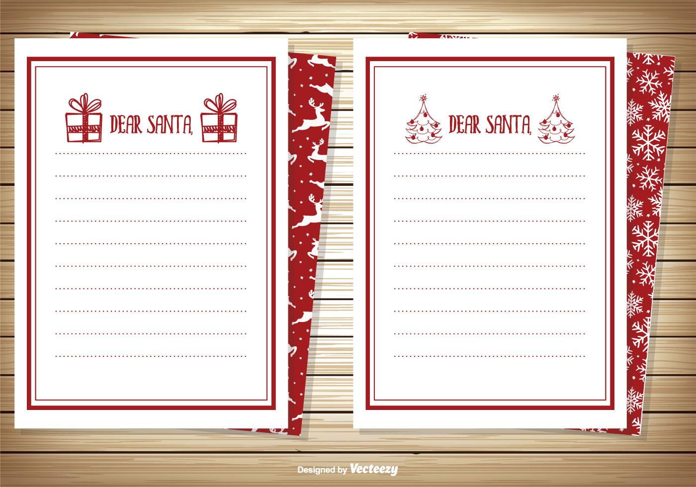 Dear Santa Note Card Set - Download Free Vector Art, Stock Graphics ...