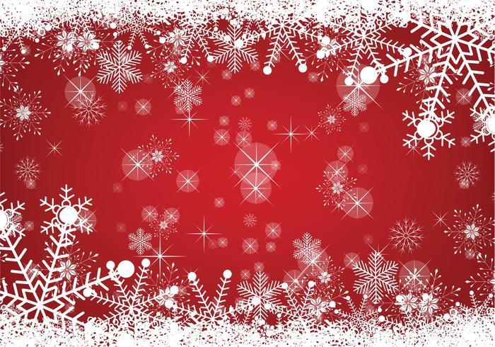 Fond de Noël enneigé