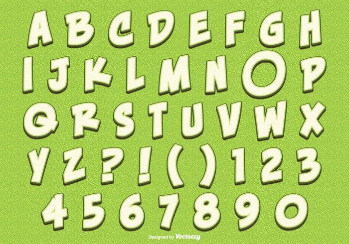 Cute Lemon Style Alphabet Set