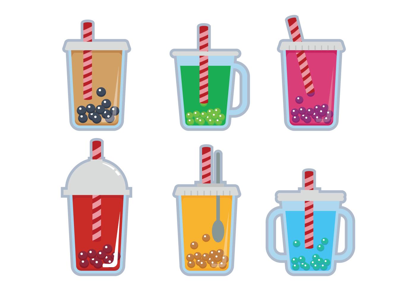 Bubble Tea Vector Download Free Vector Art Stock