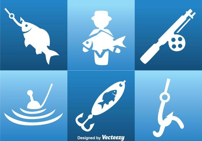 Fishing White Icons