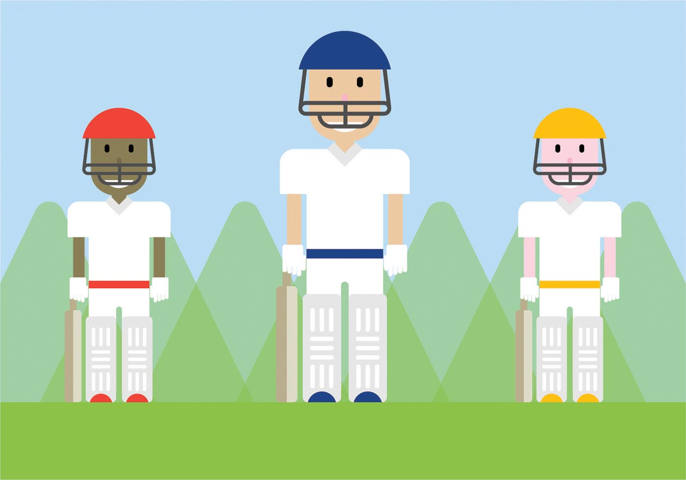 Cricket Vector Background Stock Image: Free Cricket Players Vector